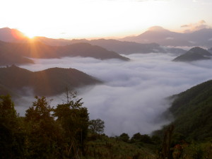 2 The mountains of Oudomxay Province in Northern Laos